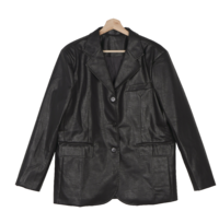 55-77 Ares Overfit Single Leather Jacket