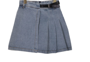 pleated candle buckle skirt