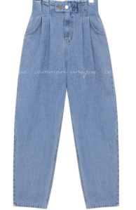 Tuck Accent Baggy Jeans