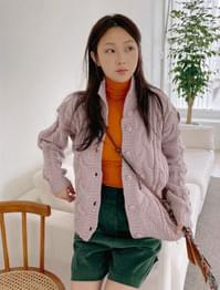 Muse high-neck Twisted cardigan