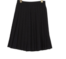 suede henley pleated skirt