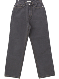 Greek Charcoal Wide Straight Jeans