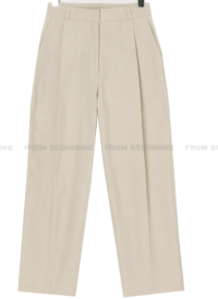Awesome Pintuck Cotton Straight Pants