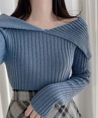Emily Lee Ribbed three days Knitwear 3color