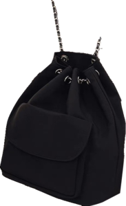 Casual simple canvas chain backpack