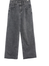 Rondie two-button denim trousers