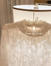 on the bee lace blouse