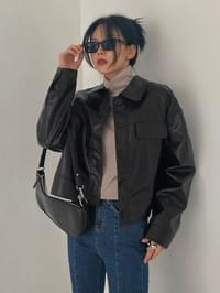 Orin Daily Loose-fit Leather Jacket