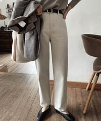 Mock Cathion Straight Fit Cotton Pants *