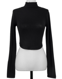 End of the Day 4% Wool Crop Turtleneck Long Sleeve T-shirt