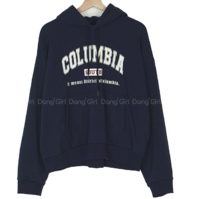 Big Size 55-120 Colombia Lettering Zuri Hoodie