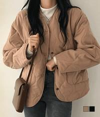 DIA quilted Fleece-lined jacket