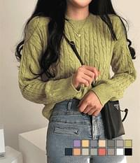 Softness Spoon Cable Cache Knitwear