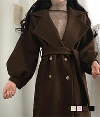 Avang Fit Quilted Wool Coat