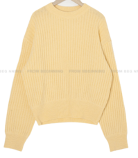 Ribbed Round Knitwear