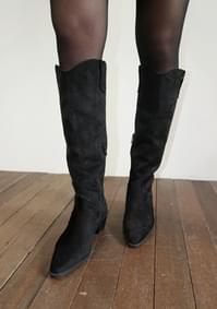 long suede western boots