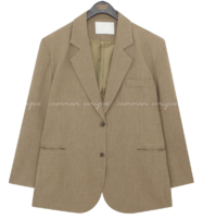 Single-Breasted Loose Fit Jacket
