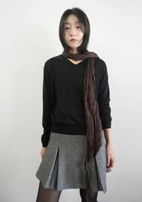 punching wrinkle cotton scarf
