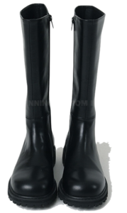 Chunky Oversole Leather Middle Boots