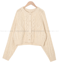 closet cable cropped cardigan