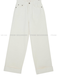 Roll Up Wide Hard Heavy Cotton Pants