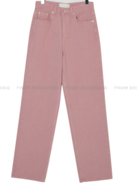 Color Dying Wide Date Cotton Pants