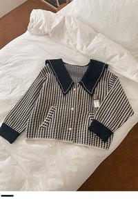 Sailor check cardigan with me