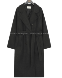 DABY WOOL 50% STRAP DOUBLE COAT